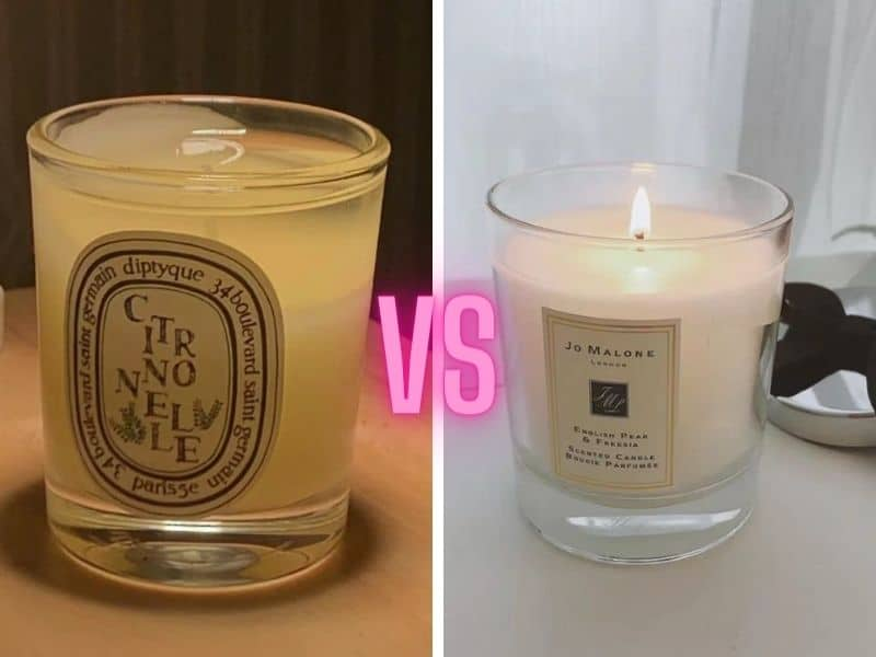 Diptyque vs Jo Malone Candles